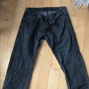 CHEAP LEVI'S vintage black straight leg jeans